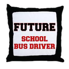 Future School Bus Driver Throw Pillow