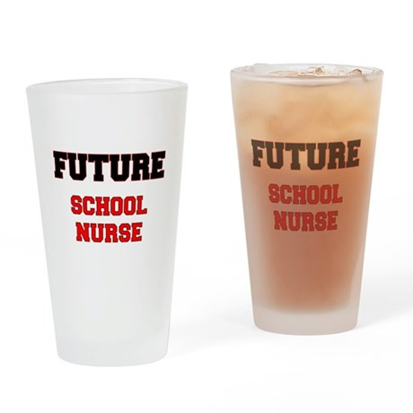 Future School Nurse Drinking Glass