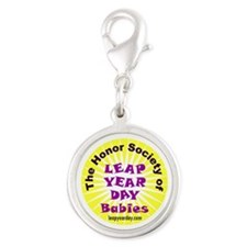 Leap Day Baby logo Silver Round Charm