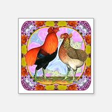 Araucana Chicken Flower Art Sticker