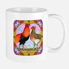 Araucana Chicken Flower Art Small Small Mug