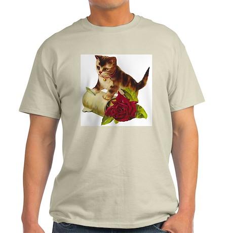 Vintage Kitten Ash Grey T-Shirt