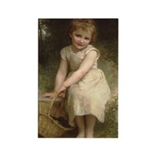 Plums Little Girl by Bouguereau Victorian Magnets