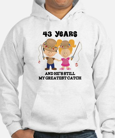 43rd Anniversary Hes Greatest Catch Jumper Hoody