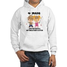41st Anniversary Hes Greatest Catch Hoodie