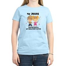 40th Anniversary Hes Greatest Catch T-Shirt