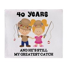 40th Anniversary Hes Greatest Catch Throw Blanket
