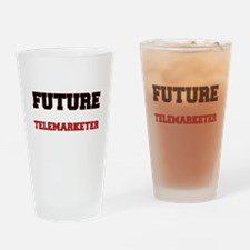 Future Telemarketer Drinking Glass