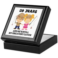 39th Anniversary Hes Greatest Catch Keepsake Box