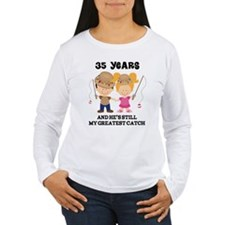 35th Anniversary Hes Greatest Catch T-Shirt