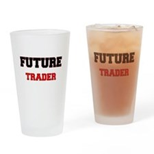 Future Trader Drinking Glass