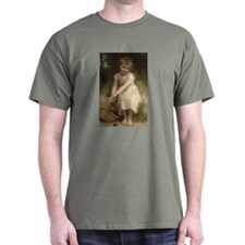Plums Little Girl by Bouguereau Victorian T-Shirt