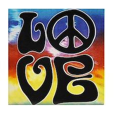 Peace & Love Tile Coaster