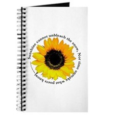 Sunflower Emerson Quote Journal