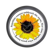 Sunflower Emerson Quote Wall Clock