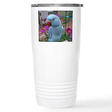 Indian Ringneck Parakeet Closeup Travel Mug