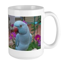 Indian Ringneck Parakeet Closeup Mug
