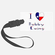 I Love Bobby Ewing Luggage Tag