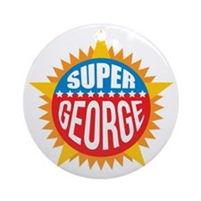 Super George Ornament (Round)