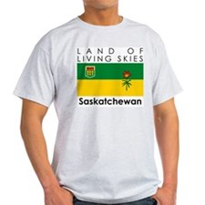 Land of Living Skies Saskatch Ash Grey T-Shirt