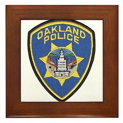 Oakland Police Framed Tile