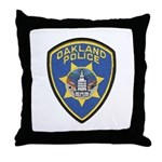 Oakland Police Throw Pillow