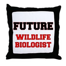 Future Wildlife Biologist Throw Pillow