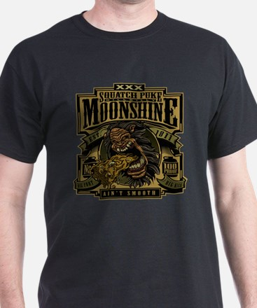 Squatch Puke Hillbilly Moonshine T-Shirt