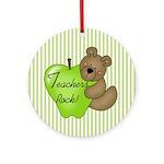 Teachers Rock Ornament (Round)