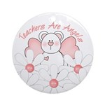 Teachers Are Angels Ornament (Round)