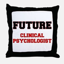 Future Clinical Psychologist Throw Pillow