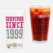 Survivor Since 1999 Drinking Glass