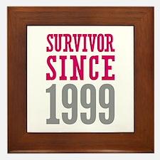 Survivor Since 1999 Framed Tile