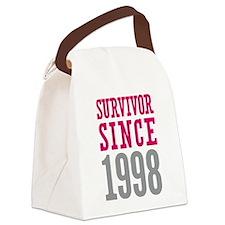 Survivor Since 1998 Canvas Lunch Bag