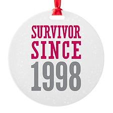 Survivor Since 1998 Ornament