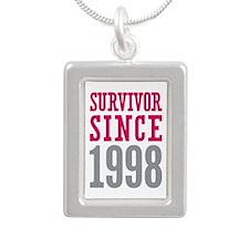 Survivor Since 1998 Silver Portrait Necklace