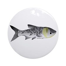 Bighead Carp (Asian Carp) fish Ornament (Round)