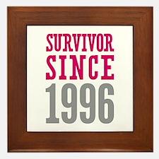 Survivor Since 1996 Framed Tile