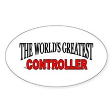 """""""The World's Greatest Controller"""" Oval Decal"""
