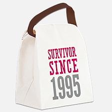 Survivor Since 1995 Canvas Lunch Bag