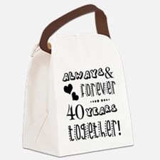 Funny Celebrating 40 years Canvas Lunch Bag