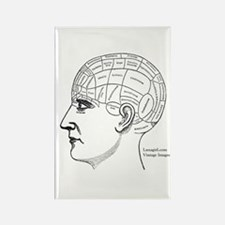 Phrenology Chart Vintage Victorian Antique Magnets
