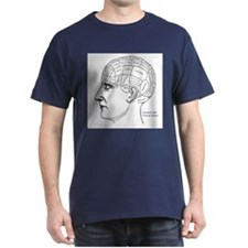 Phrenology Chart Vintage Victorian Antique T-Shirt