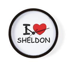 I love Sheldon Wall Clock