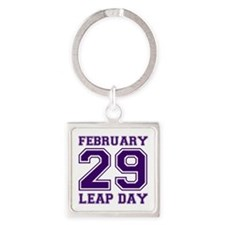 LEAP DAY Square Keychain