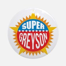 Super Greyson Ornament (Round)