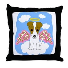 Jack Russell Angel Throw Pillow