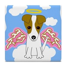 Jack Russell Angel Tile Coaster