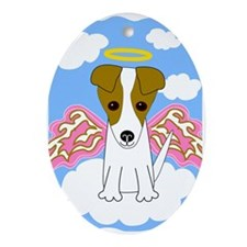 Jack Russell Angel Oval Ornament