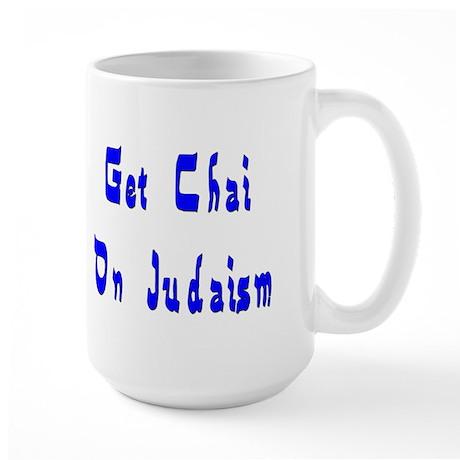 Chai on Judaism Large Mug